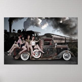 FuelFoto - Chugga Chugga Choo Pin Up Canvas Posters