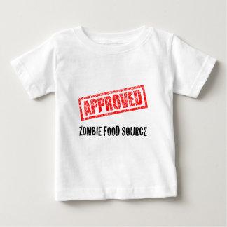 Fuente APROBADA de la comida del zombi Playera De Bebé