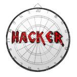 Fuente áspera del pirata informático de lujo tabla dardos