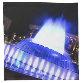 Fuente azul servilleta imprimida