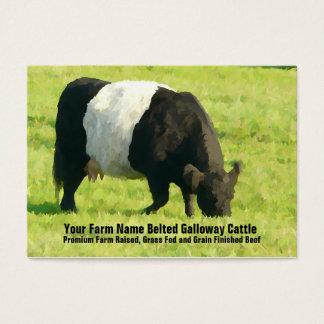 Fuente ceñida de la granja o del rancho de ganado tarjeta de negocios