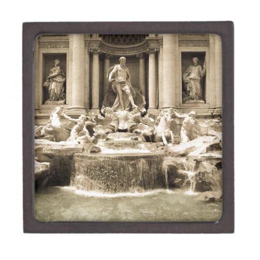 Fuente clásica del Trevi, Roma Caja De Regalo De Calidad