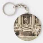 Fuente clásica del Trevi, Roma Llavero Redondo Tipo Pin
