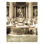 Fuente clásica del Trevi, Roma Membrete