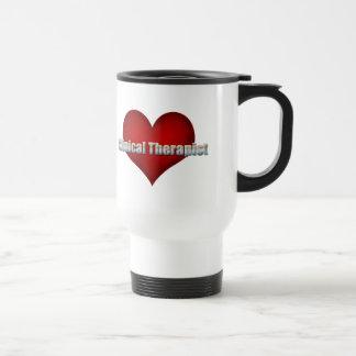Fuente clínica del cromo del terapeuta y corazón r tazas de café