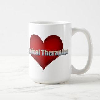 Fuente clínica del cromo del terapeuta y corazón r tazas