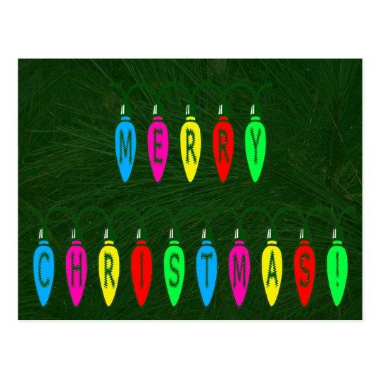 Fuente colorida de las luces de las Felices Tarjeta Postal