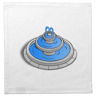 Fuente de agua servilletas de papel