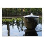 Fuente de aguas frescas tarjetón