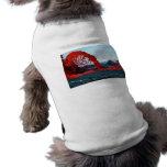 Fuente de arqueamiento de la lava del volcán de Pa Camisetas Mascota