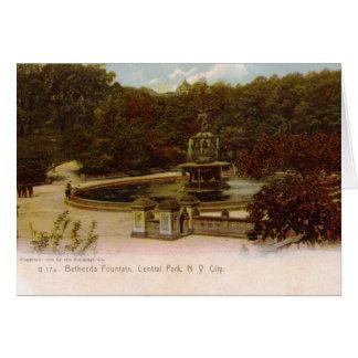 Fuente de Bethesda, Central Park, Nueva York Vin Tarjeta De Felicitación