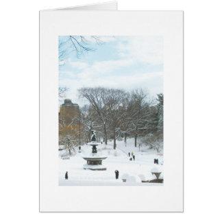 Fuente de Bethesda Central Park tarjeta de Navid