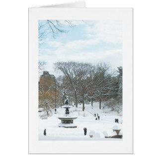 Fuente de Bethesda Central Park tarjeta del día