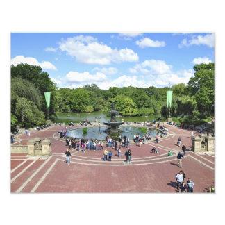 Fuente de Bethesda en el Central Park NY Cojinete