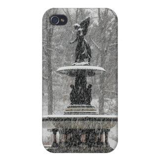 Fuente de Bethesda en foto del Central Park iPhone 4 Cárcasas