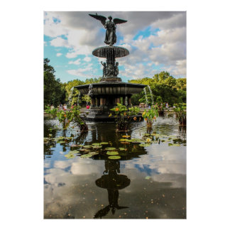 Fuente de Bethesda en foto del Central Park Posters