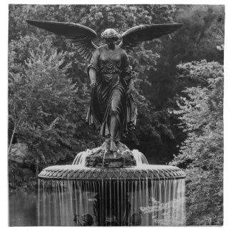 Fuente de Bethesda en foto del Central Park Servilletas Imprimidas