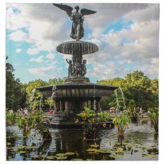 Fuente de Bethesda en foto del Central Park Servilleta Imprimida