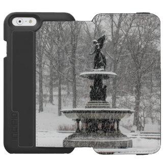 Fuente de Bethesda en foto del Central Park Funda Cartera Para iPhone 6 Watson