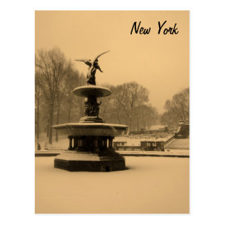 Fuente de Bethesda en invierno Postales