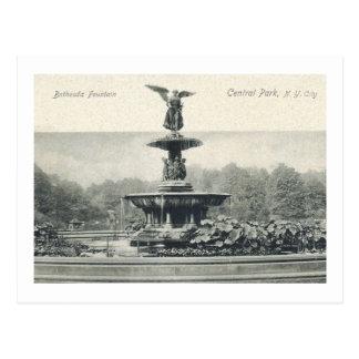 Fuente de Bethesda, vintage de New York City Tarjeta Postal