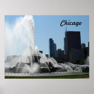 Fuente de Buckingham - Chicago Posters