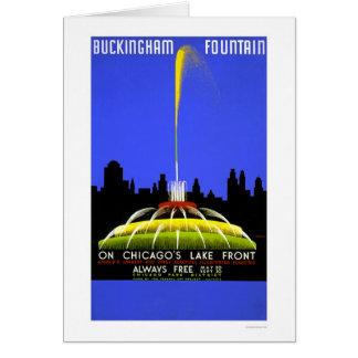 Fuente de Buckingham WPA 1939 Tarjeta De Felicitación