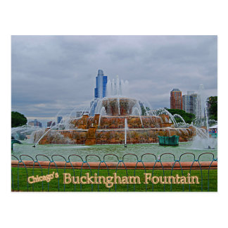 Fuente de Chicagos Buckingham Tarjeta Postal