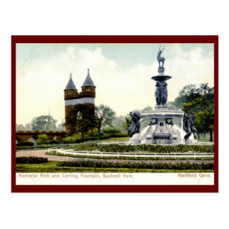 Fuente de Corning, parque de Bushnell, Hartford Tarjetas Postales