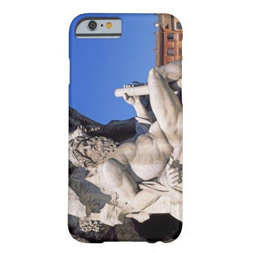 Fuente de cuatro ríos en la plaza Navona. Roma, Funda De iPhone 6 Barely There