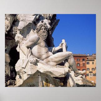 Fuente de cuatro ríos en la plaza Navona. Roma, Impresiones