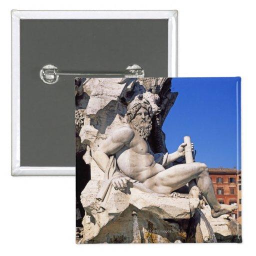 Fuente de cuatro ríos en la plaza Navona. Roma, Pins
