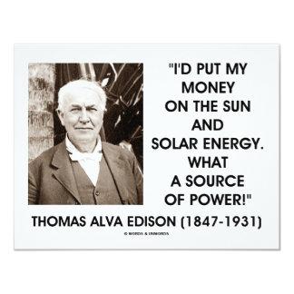 Fuente de energía solar de Thomas Edison Sun de Anuncios