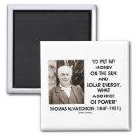 Fuente de energía solar de Thomas Edison Sun de po Imán De Nevera