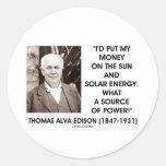 Fuente de energía solar de Thomas Edison Sun de po Pegatinas