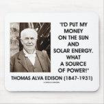Fuente de energía solar de Thomas Edison Sun de po Alfombrillas De Ratones
