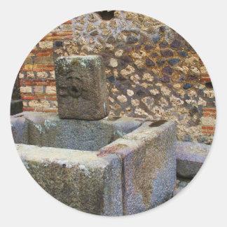 Fuente de Hermes, Pompeya Pegatina Redonda