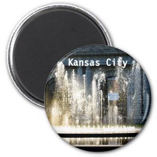 Fuente de Kansas City Imán Redondo 5 Cm