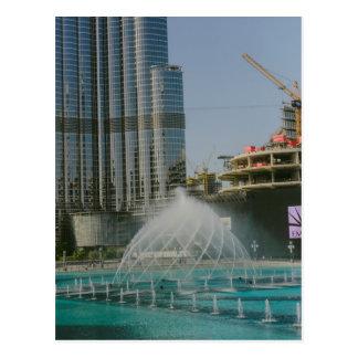 Fuente de la alameda de Dubai Postales