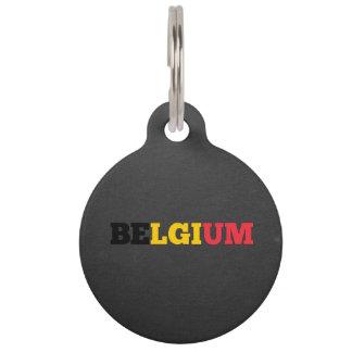 Fuente de la bandera de Bélgica Placas De Mascota