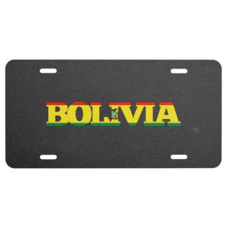 Fuente de la bandera de Bolivia Placa De Matrícula
