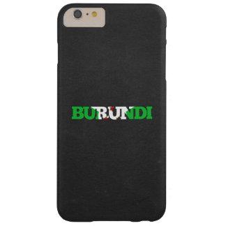 Fuente de la bandera de Burundi Funda Barely There iPhone 6 Plus