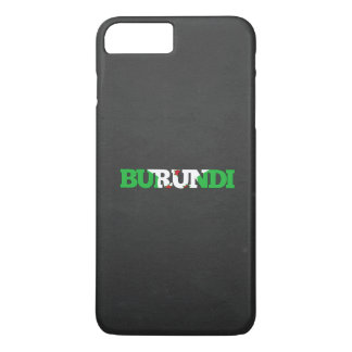 Fuente de la bandera de Burundi Funda iPhone 7 Plus