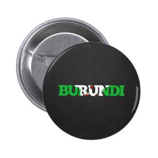 Fuente de la bandera de Burundi Pin Redondo De 2 Pulgadas