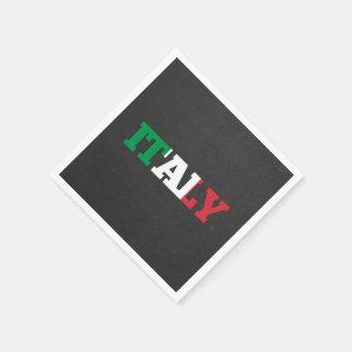 Fuente de la bandera de Italia Servilletas De Papel