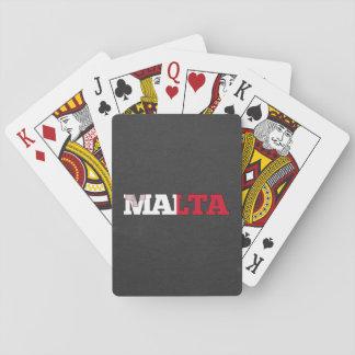 Fuente de la bandera de Malta Baraja De Póquer