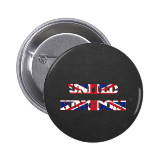 Fuente de la bandera de Reino Unido Pin Redondo 5 Cm