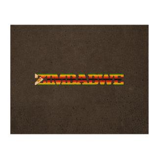 Fuente de la bandera de Zimbabwe Impresiones En Corcho