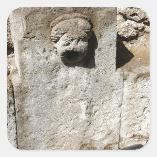 Fuente de la ciudad de Pompeya Pegatina Cuadrada