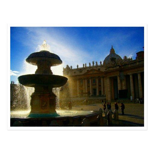 fuente de la Ciudad del Vaticano Postales